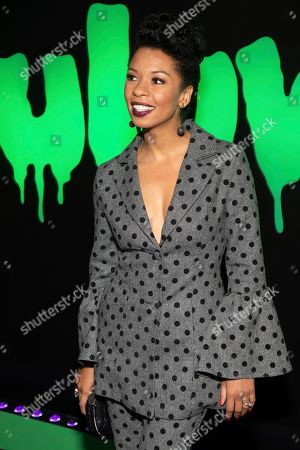 """Stock Picture of Angel Parker attends Hulu's """"Huluween"""" television program lineup celebration during New York Comic Con at Huluween HQ, in New York"""