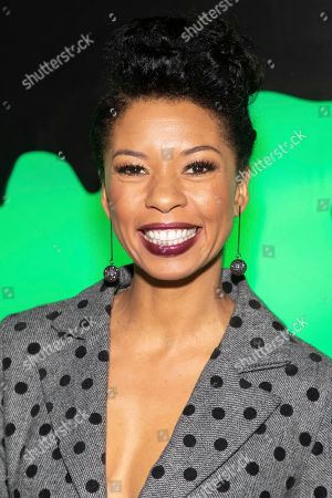 """Angel Parker attends Hulu's """"Huluween"""" television program lineup celebration during New York Comic Con at Huluween HQ, in New York"""