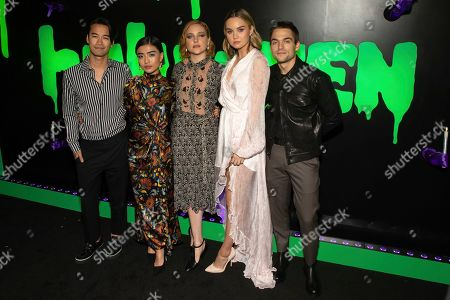 "Jordan Rodrigues, Brianne Tju, Haley Ramm, Liana Liberato, Dylan Sprayberry. Jordan Rodrigues, from left, Brianne Tju, Haley Ramm, Liana Liberato, and Dylan Sprayberry attend Hulu's ""Huluween"" television program lineup celebration during New York Comic Con at Huluween HQ, in New York"