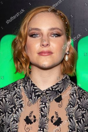 """Haley Ramm attends Hulu's """"Huluween"""" television program lineup celebration during New York Comic Con at Huluween HQ, in New York"""