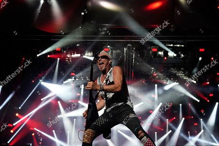 Rudolf Schenker guitarist of the band Scorpions performs at the Rock in Rio music festival in Rio de Janeiro, Brazil, early