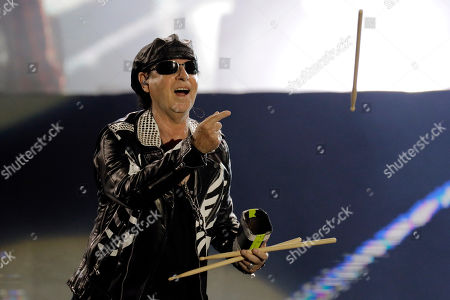 Klaus Meine of the band Scorpions performs at the Rock in Rio music festival in Rio de Janeiro, Brazil, early