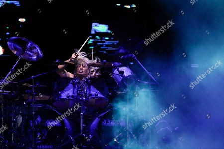 Drummer Mikkey Dee of the band Scorpions performs at the Rock in Rio music festival in Rio de Janeiro, Brazil, early