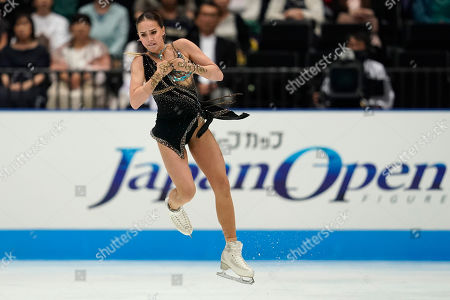 Alina Zagitova of Russia performs her women's free skating routine during the Japan Open figure skating team competition at the Saitama Super Arena in Saitama, Japan