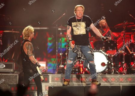Guns N' Roses' Axl Rose performs on the first weekend of the Austin City Limits Music Festival at Zilker Park, in Austin, Texas