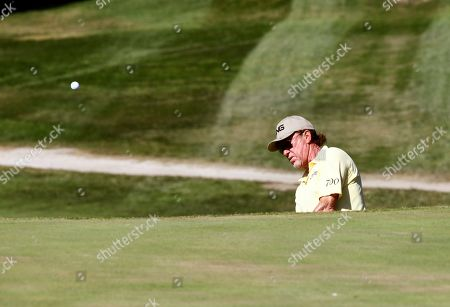 Spanish golf player Miguel Angel Jimenez competes in the third day of Mutuactivos Open de Espana golf tournament at Club de Campo Villa de Madrid golf club, in Madrid, Spain, 05 October 2019. The European Tour's open tournament runs from 03 to 6 October.