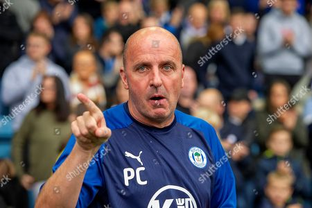 Wigan Athletic Manager Paul Cook during the EFL Sky Bet Championship match between Sheffield Wednesday and Wigan Athletic at Hillsborough, Sheffield