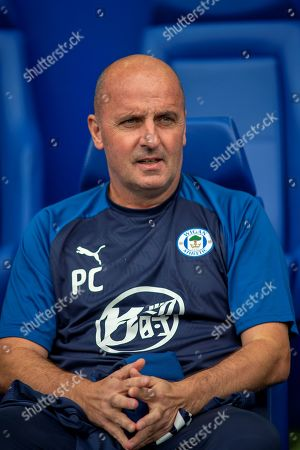 Stock Photo of Wigan Athletic Manager Paul Cook during the EFL Sky Bet Championship match between Sheffield Wednesday and Wigan Athletic at Hillsborough, Sheffield
