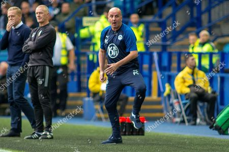 Stock Image of Wigan Athletic Manager Paul Cook during the EFL Sky Bet Championship match between Sheffield Wednesday and Wigan Athletic at Hillsborough, Sheffield