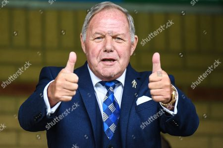 Thumbs up from Peterborough United Director of Football Barry Fry during the EFL Sky Bet League 1 match between Wycombe Wanderers and Peterborough United at Adams Park, High Wycombe