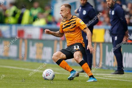Hull City midfielder  Kamil Grosicki (11)  during the EFL Sky Bet Championship match between Huddersfield Town and Hull City at the John Smiths Stadium, Huddersfield