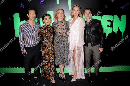 Jordan Rodrigues, Brianne Tju, Haley Ramm, Liana Liberato and Dylan Sprayberry attend the Huluween Celebration held at Huluween HQ in New York City.