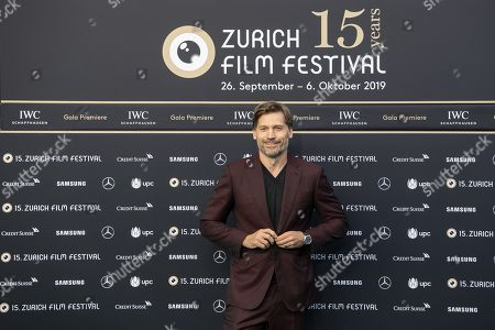 Nikolaj Coster-Waldau poses on the Green Carpet during the 15th Zurich Film Festival (ZFF) in Zurich, Switzerland, 05 October 2019. The festival runs from 26 September to 06 October 2019.