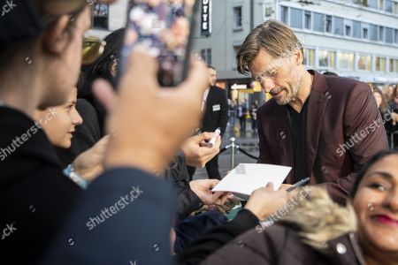 Nikolaj Coster-Waldau signs on the Green Carpet during the 15th Zurich Film Festival (ZFF) in Zurich, Switzerland, 05 October 2019. The festival runs from 26 September to 06 October 2019.