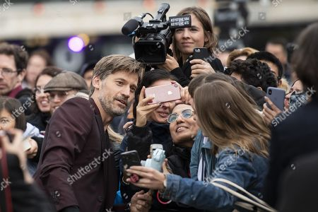 Nikolaj Coster-Waldau poses for selfies on the Green Carpet during the 15th Zurich Film Festival (ZFF) in Zurich, Switzerland, 05 October 2019. The festival runs from 26 September to 06 October 2019.