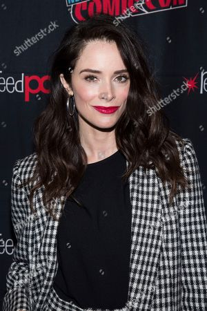 """Stock Image of Abigail Spencer attends New York Comic Con to promote Hulu's """"Reprisal"""" at the Jacob K. Javits Convention Center, in New York"""