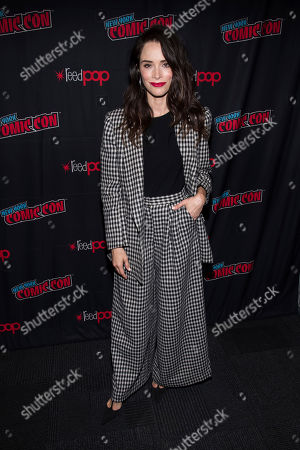 """Stock Picture of Abigail Spencer attends New York Comic Con to promote Hulu's """"Reprisal"""" at the Jacob K. Javits Convention Center, in New York"""