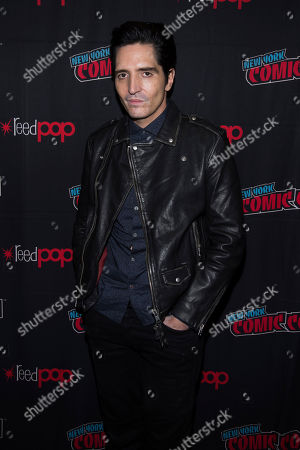 """David Dastmalchian attends New York Comic Con to promote Hulu's """"Reprisal"""" at the Jacob K. Javits Convention Center, in New York"""