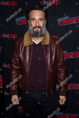"Rodrigo Santoro attends New York Comic Con to promote Hulu's ""Reprisal"" at the Jacob K. Javits Convention Center, in New York"