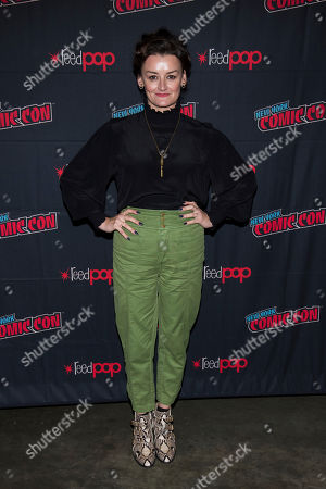 """Alison Wright attends New York Comic Con to promote TNT's """"Snowpiercer"""" at the Hammerstein Ballroom, in New York"""