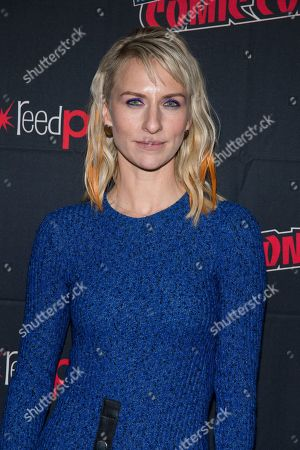"""Mickey Sumner attends New York Comic Con to promote TNT's """"Snowpiercer"""" at the Hammerstein Ballroom, in New York"""