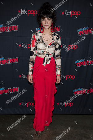 "Sheila Vand attends New York Comic Con to promote TNT's ""Snowpiercer"" at the Hammerstein Ballroom, in New York"