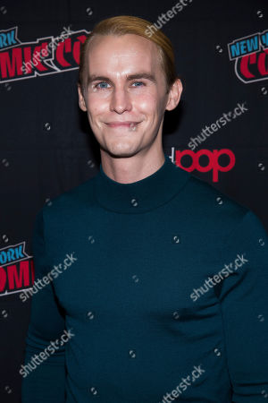 """Rhys Wakefield attends New York Comic Con to promote Hulu's """"Reprisal"""" at the Jacob K. Javits Convention Center, in New York"""