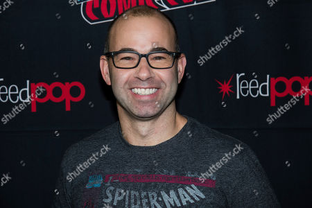 """James Murray, Murr. James """"Murr"""" Murray attends New York Comic Con to promote TBS's """"The Misery Index"""" at the Jacob K. Javits Convention Center, in New York"""