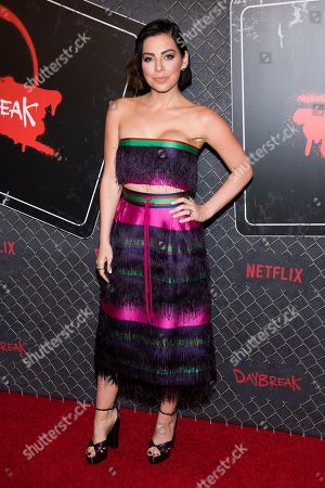 "Krysta Rodriguez attends New York Comic Con to promote Netflix's ""Daybreak"" at the Jacob K. Javits Convention Center, in New York"