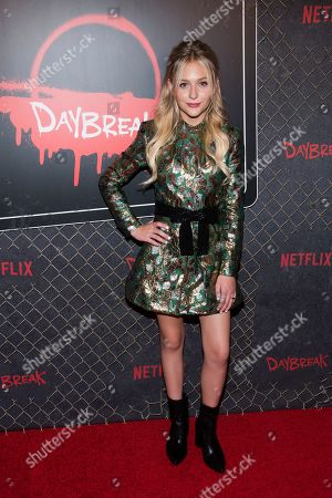 """Alyvia Alyn Lind attends New York Comic Con to promote Netflix's """"Daybreak"""" at the Jacob K. Javits Convention Center, in New York"""
