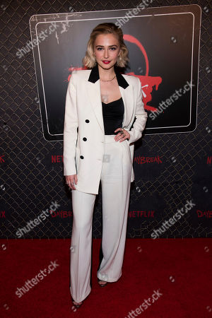 """Sophie Simnett attends New York Comic Con to promote Netflix's """"Daybreak"""" at the Jacob K. Javits Convention Center, in New York"""