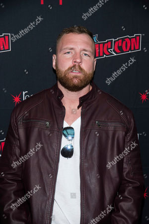 "Stock Picture of Jon Moxley attends New York Comic Con to promote TNT's ""All Elite Wrestling: Dynamite"" at the Jacob K. Javits Convention Center, in New York"