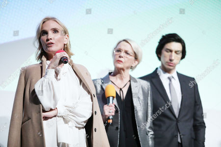 Stock Picture of Jennifer Fox, Annette Bening and Adam Driver at the Post-Screening Q&A, at Embankment Garden Cinema.