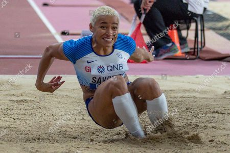 Jazmin Sawyers (Great Britain), Long Jump Women Qualification - Group B, during the 2019 IAAF World Athletics Championships at Khalifa International Stadium, Doha