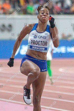 Shara Proctor (Great Britain), Long Jump Women Qualification - Group A, during the 2019 IAAF World Athletics Championships at Khalifa International Stadium, Doha