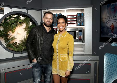Stock Image of Wes Chatham and Dominique Tipper
