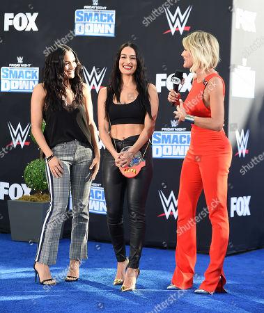 Brie Bella, Nikki Bella and Charissa Thompson