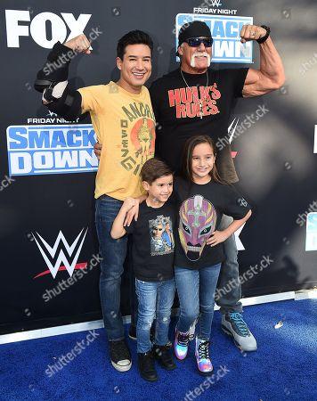 Mario Lopez and Hulk Hogan