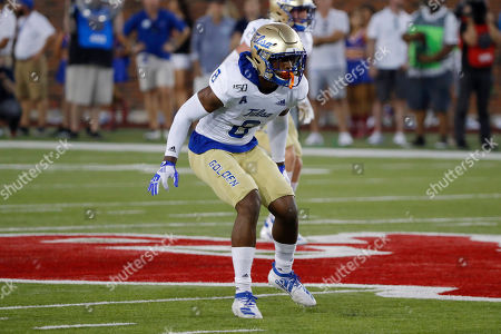 Tulsa safety Brandon Johnson drops into coverage during the first half of an NCAA college football game against SMU, in Dallas, Texas. SMU beat Tulsa 43-37