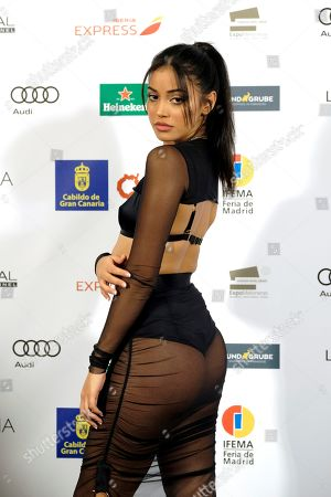 Dutch top model Cindy Kimberly poses as she arrives to the 'Moda Calida' closing gala held at Gran Canaria's Maspalomas city in Canary Islands, Spain, 05 October 2019.