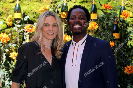 Brittany Perrineau, Harold Perrineau. Brittany Perrineau, left, and Harold Perrineau attend the 10th Annual Veuve Clicquot Polo Classic at Will Rogers State Historic Park, in Los Angeles
