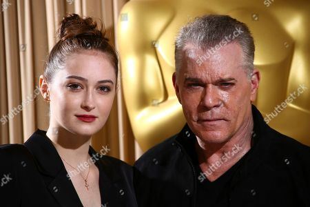 Ray Liotta, Karsen Liotta. Actor Ray Liotta and Karsen Liotta pose for photographers upon arrival at the The Academy of Motion Pictures and Sciences new members reception in central London