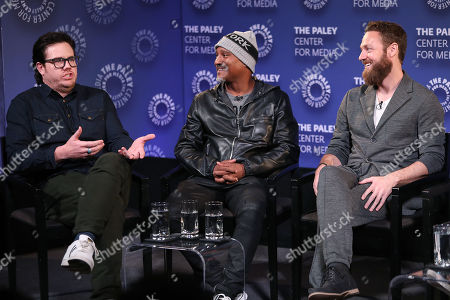 Josh McDermitt, Seth Gilliam and Ross Marquand