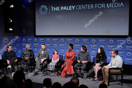 Josh McDermitt, Seth Gilliam, Ross Marquand, Cailey Fleming, Danai Gurira, Norman Reedus and Angela Kang (Showrunner, Exec. Prod)