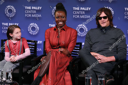 Cailey Fleming, Danai Gurira and Norman Reedus