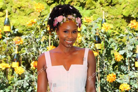 Sydelle Noel attends the 10th Annual Veuve Clicquot Polo Classic at Will Rogers State Historic Park, in Los Angeles, Calif