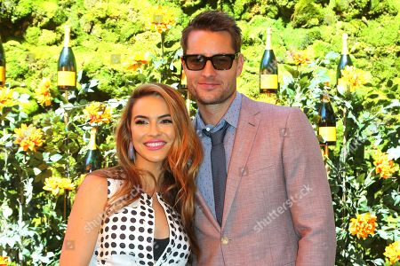 Chrishell Hartley, Justin Hartley. Chrishell Hartley, left, and Justin Hartley attend the 10th Annual Veuve Clicquot Polo Classic at Will Rogers State Historic Park, in Los Angeles, Calif