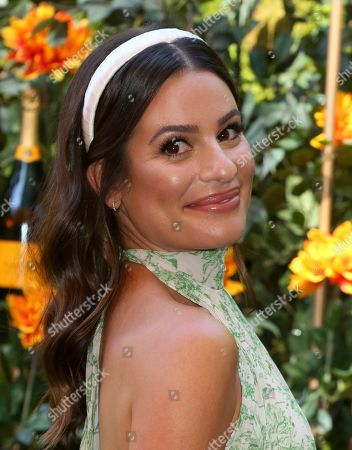 Lea Michelle attends the 10th Annual Veuve Clicquot Polo Classic at Will Rogers State Historic Park, in Los Angeles, Calif