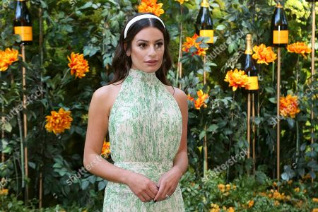 Stock Image of Lea Michelle attends the 10th Annual Veuve Clicquot Polo Classic at Will Rogers State Historic Park, in Los Angeles, Calif