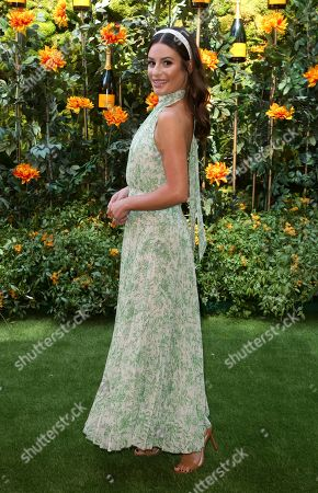 Stock Picture of Lea Michelle attends the 10th Annual Veuve Clicquot Polo Classic at Will Rogers State Historic Park, in Los Angeles, Calif